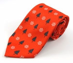 Christmas Tree & Snowflakes Motif Tie (Various Sizes Available for Men & Boys)