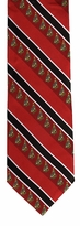 Christmas Tree Stripe Ties  / Red & Black