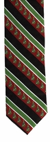 Christmas Tree Stripe Ties  / Red, Black & Green
