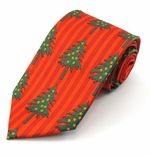 Christmas Tree Vertical Stripe Tie (Various Sizes Available for Men & Boys)
