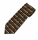 Happy Halloween Monsters Tie (Styles for Men & Boys)