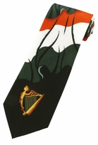 Colors of Ireland & Harp Tie