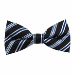 Continental Stripe Bow Tie (Men's & Boys Styles)