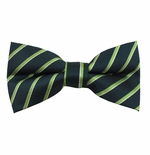Evergreen Stripe Bow Tie (Men's & Boys Styles)
