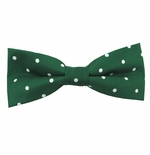 Forest & White Urban Dotted Bow Tie (Men's & Boy's Styles Available)