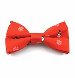 Frosty & Snowflakes Bow Tie / Red (Sizes for Men & Boys)