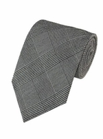 Gray & Black Plaid Tie