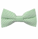 Green Seersucker Bow Ties / Men's & Boy's