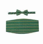 Happy St. Patrick's Day Cummerbund & Banded Bow Tie Set
