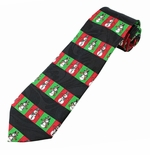 Holiday Snowman Pattern Tie