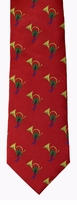 Horns & Holly Stripe Tie / Red