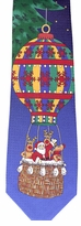 Hot Air Ballooning Santa Christmas Ties