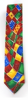 Jerry Garcia Abstract Merry Christmas Tie