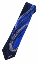 Jerry Garcia Chinese Dragon Tie / Royal / Signature Collection