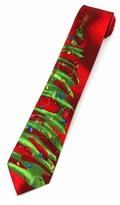 Jerry Garcia Christmas Green Tree Tie