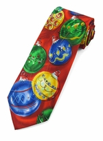 Jerry Garcia Merry Ornaments Christmas Tie #8015