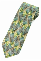 Jerry Garcia Northern Lights Tie / Green