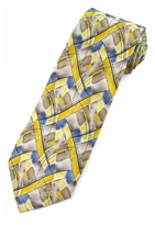 Jerry Garcia Northern Lights Tie / Yellow