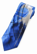 Jerry Garcia Poet Absorb the War Tie / Blue