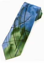 Jerry Garcia Poet Absorb the War Tie / Green