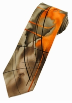 Jerry Garcia Poet Absorb the War Tie / Orange
