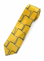Jerry Garcia Skinny Tie #803 - Bag Lady / Yellow