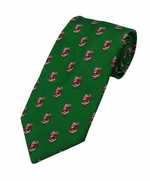 Jolly Old St Nick Pattern Tie / Green