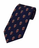 Jolly Old St Nick Pattern Tie / Navy