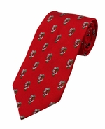 Jolly Old St Nick Pattern Tie / Red