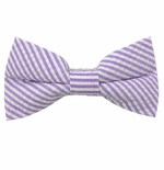 Lavender Seersucker Bow Ties / Men's & Boy's