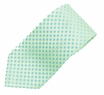 Light Lime Green Floral Dot in Square Microfiber Woven Tie