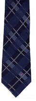 Navy Plaid Breast Cancer Awareness Tie #55