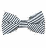Navy Seersucker Bow Ties / Men's & Boy's