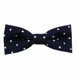 Navy & White Urban Dotted Bow Tie (Men's & Boy's Styles Available)
