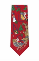 Noel Christmas Zipper Tie / Red