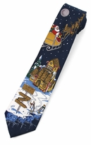 North Pole Christmas Tie / Black