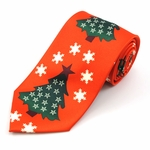 Oh Christmas Tree Stripe Tie (Various Sizes Available for Men & Boys)