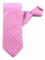 Orchid with Yellow Dotted Zipper Tie #342