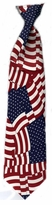 Overlapping American Flag X-Long Clip On Necktie
