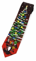 Penguin Christmas Tree Tie