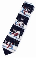Penguin Fun Christmas Ties / Navy