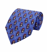 Penguin Magic Christmas Tie / Blue