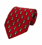 Penguin Magic Christmas Tie / Red