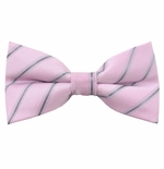 Pink Prize Stripe Bow Tie (Men's & Boys Styles)