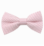 Pink Seersucker Bow Ties / Men's & Boy's