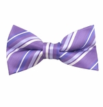 Purple Passion Stripe Bow Tie (Men's & Boys Styles)