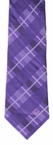 Purple Plaid Breast Cancer Awareness Tie #53