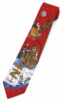 Red North Pole Tie (Various Sizes Available for Men & Boys)