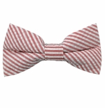 Red Seersucker Bow Ties / Men's & Boy's