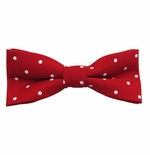 Red & White Urban Dotted Bow Tie (Men's & Boy's Styles Available)